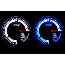 PRO RACING GAUGE 52mm  - Benzin-levegő keverék, Benzin-levegő keverék, AFR Kék&FEHÉR
